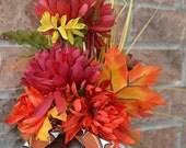 AG Designs Fall Decor - Pumpkin Floral Happy Football Ya'll  SM #522/02