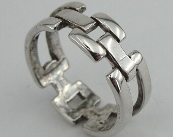 SUPER PRICE - New design Unisex 925 Sterling silver band ring size 7 (r10238)