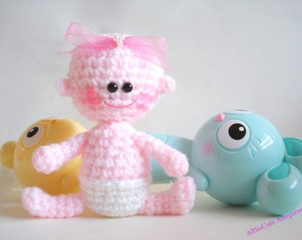 Instant Download - PDF Crochet Pattern - Baby Crochet Pattern - Amigurumi Baby Doll Tutorial