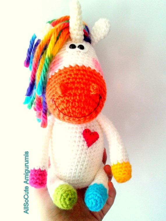 Unicorn Amigurumi Yarn Yard : Amigurumi Crochet Pattern Horse Pony Unicorn