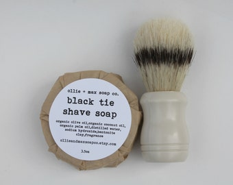 BLACK TIE Shaving Soap For Men VEGAN gifts for men