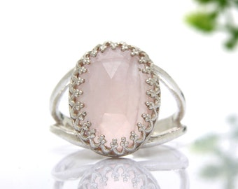 Rose quartz ring,love ring,love gemstone ring,pink quartz ring,sterling silver ring,girlfriend ring,love jewelry