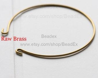 6 Pieces / Raw Brass / Bangle / 65*1.4mm (C1813//S4)