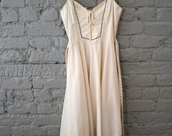 1970s Gunne Sax Corset Sundress with Lace details