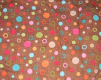Multicolered Circle and Dot Crib or Toddler Bed Fitted Sheet