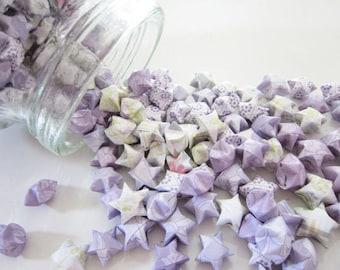 100 Lavender Romance Origami Stars