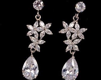 Dance - Cubic Zirconia Bridal Earrings