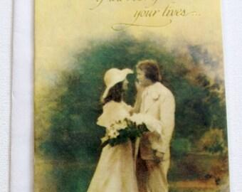 1970's vintage Wedding card, unused, with envelope