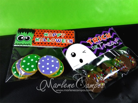 Halloween Treat Bags Toppers, Halloween Party, Halloween birthday ...