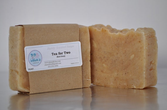 Tea for Two Soap  -  All Natural Soap, Handmade Soap, Barely Scented Soap, Hot Process Soap, Vegan Soap,