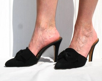 Popular items for high heel on etsy - Ladies bedroom slippers with heel ...