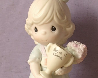 Vintage Precious Moments Figurine, You're My Number One Friend, 1993, Limited Edition, girl figurine, gift for friend, wedding gift