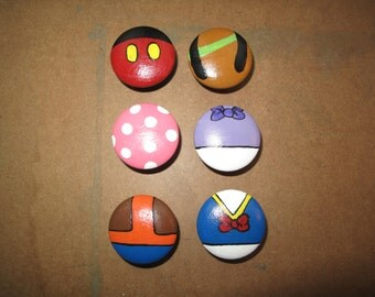 Mickey Mouse Club House  Dresser Knobs