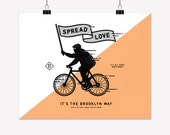Spread Love - Brooklyn Bike Poster