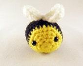 Crocheted Amigurumi Bumblebee - Stuffed Animal - Cotton yarn