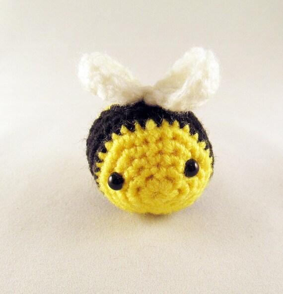 Amigurumi Cotton Yarn : Items similar to Crocheted Amigurumi Bumblebee - Stuffed ...