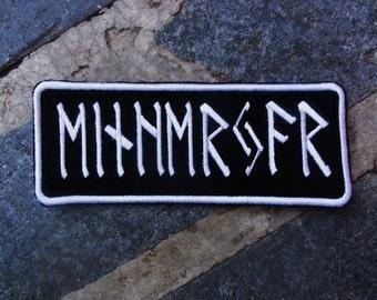 custom embroidered name patch rune, norse nordic, Elder Futhark Nordic Runes