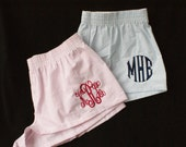 ON SALE Bride and Bridemaid Gift, Monogrammed Boxers, Personalized Boxer Shorts, Boxer Shorts