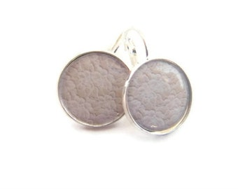 White Lace Earrings