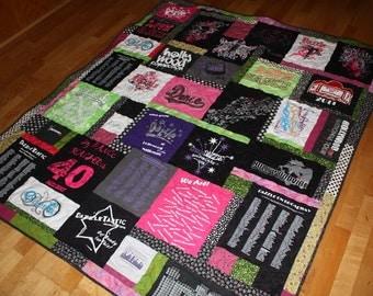 Deposit on a Custom dance school T shirt quilt,  girls Christmas gift