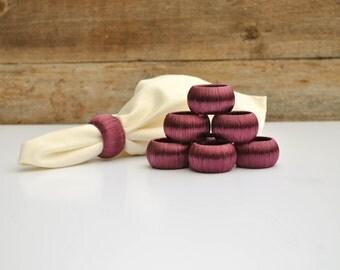 Set of 8 Plum Napkin Rings, Gift for the Entertainer, Wedding Gift Under 40