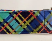 Dog Collar - Dog,  Martingale or Cat Collar - All Sizes -  Navy Biasplaid