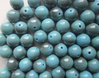 Blue Plastic Beads Round Chunky Gumball 14mm 20 Beads