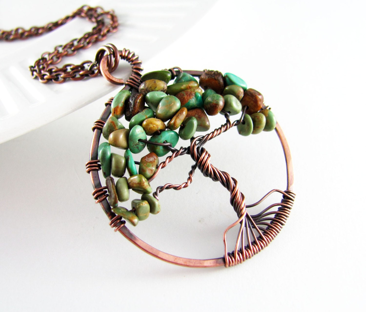tree of necklace wire wrapped pendant by polymerplayin