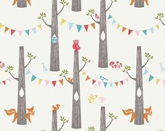 Woodland Party, Circa52, Birch Organic Fabrics, Circa 52 Deer Woodland Animals, Forest Fox Owl, Bunting Pendants, One