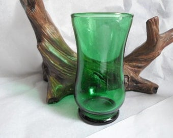 Vintage Forest Green Anchor Hocking Juice Glass Single/Orphan Small Little 1950s to 1960s