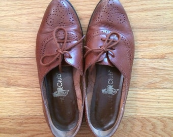Vintage leather oxford
