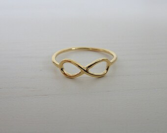 Gold Plated Infinity Ring