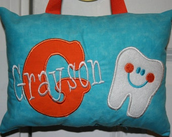 Tooth Fairy Pillow for Boys - Tooth Chart Option for Pocket