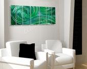 green painted Wall Decor 3D Video effect art Modern elegant outdoor indoor ocean wave new hand Painting Original Sculpture by Lubo Naydenov