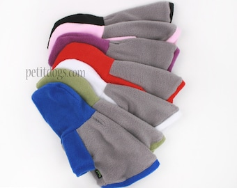 Dog clothes Custom name embroidery in cozy fleece Raglan style hoodie many colors