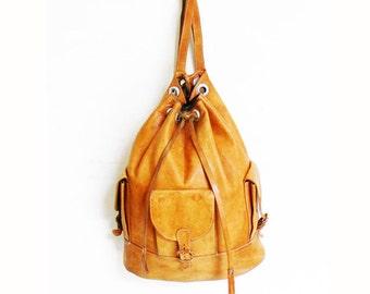 Vintage Leather Backpack Rucksack Amazing