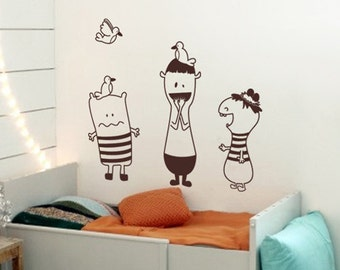 Playing with Best Friends - Kids Nursery Wall Decal