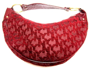 Red Hobo Bag New York & Co Large Dark Wine Purse Shoulderbag