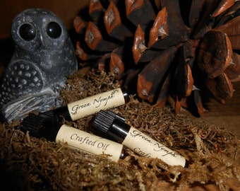 HALLOWEEN Perfume Oil Collection by Green Nymph - Three 1-ml Sample Vials - Choose THREE Scents - SPOOKY, Decadent, and Fun