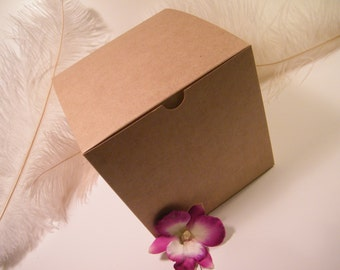 """10 Gift Boxes - Kraft Square Box - Tuck Top - 6"""" x 6"""" x 6"""" - Gift Box - Specialty Packaging - Natural Kraft - Holiday Packaging - LAST SET"""