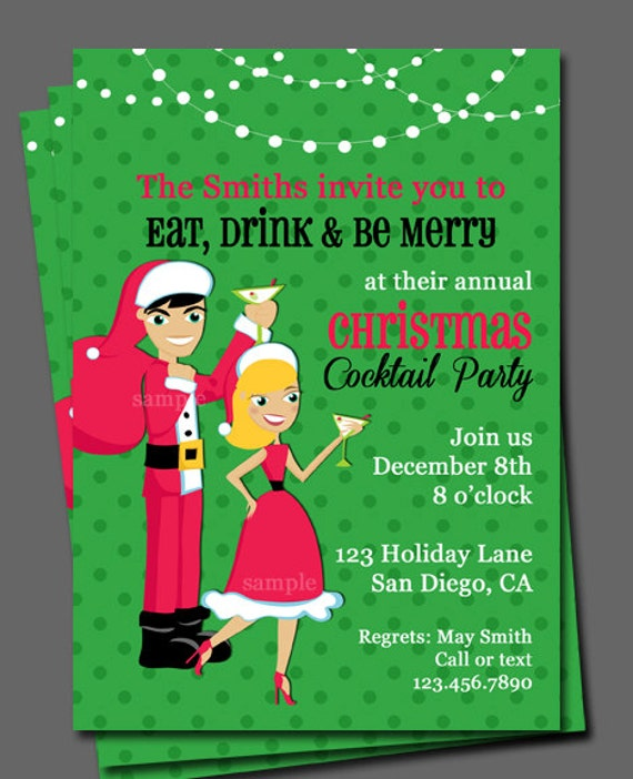 like this item - Christmas Cocktail Party Invitations