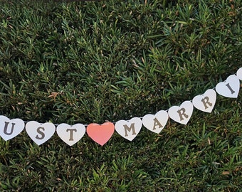 Just Married Banner, Photo Prop