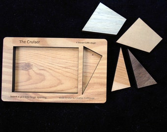 Cruiser brain teaser puzzle - SIZE SMALL - a brilliant Stewart Coffin design - only 4 pcs but hard!