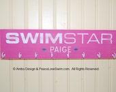 Swimming Ribbon Display Hanger -  Customization & Personalization Available