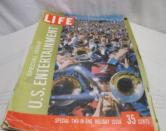 Life Magazine 1958 Special Issue U.S. Entertainment, Coke Christmas Jazz Chrysler Dean Martin, vintage ads