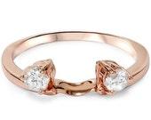 1/4CT Diamond Guard Ring Enhancer 14K Rose Gold