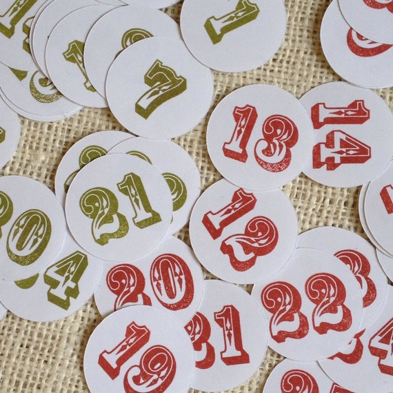 7 Best Images of Christmas Printable Number Stickers - Free Printable Number Stickers, Free Printable Calendar Numbers and Free Printable Advent Calendar Numbers Ksenia Turenko Printables.
