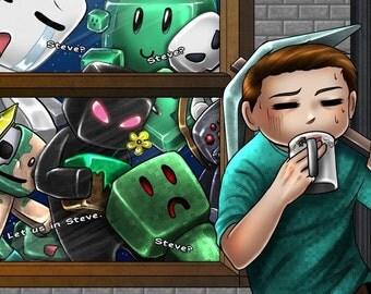 "11x17"" Minecraft Monsters"