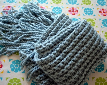 CROCHET PATTERN PDF - Bulky Crochet Ribbed Scarf -- Free Shipping - Instant Download