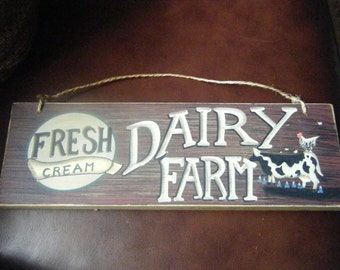 Country Cow Wood Sign, Country Decor , Rustic Dairy ,Farm Vintage Wall Hanging